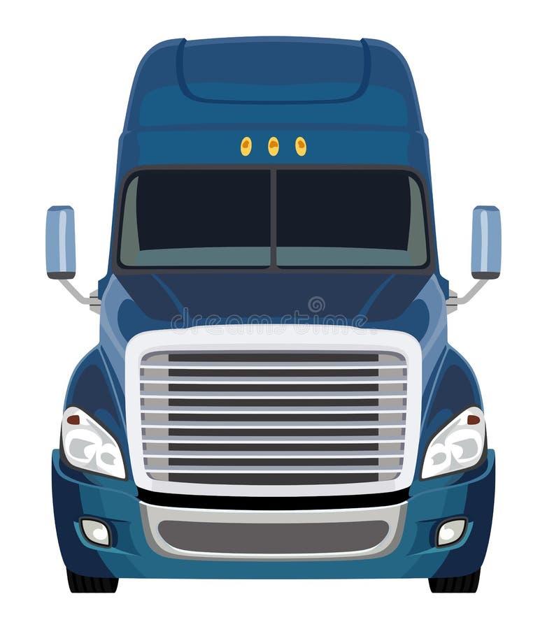 Camion blu anteriore illustrazione di stock