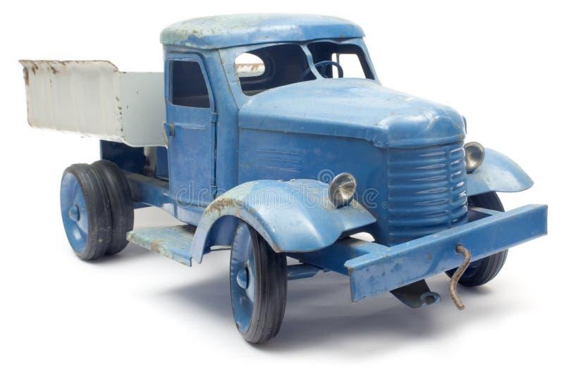 Camion blu del giocattolo fotografia stock libera da diritti