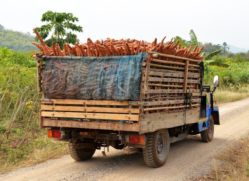 Camion caricato immagine stock