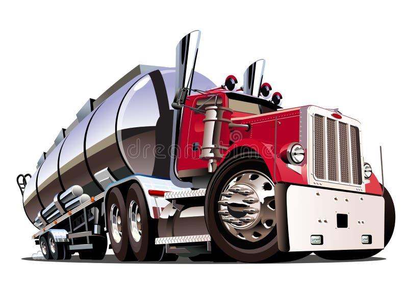 Camion cisterna dei semi del fumetto isolato su fondo bianco royalty illustrazione gratis