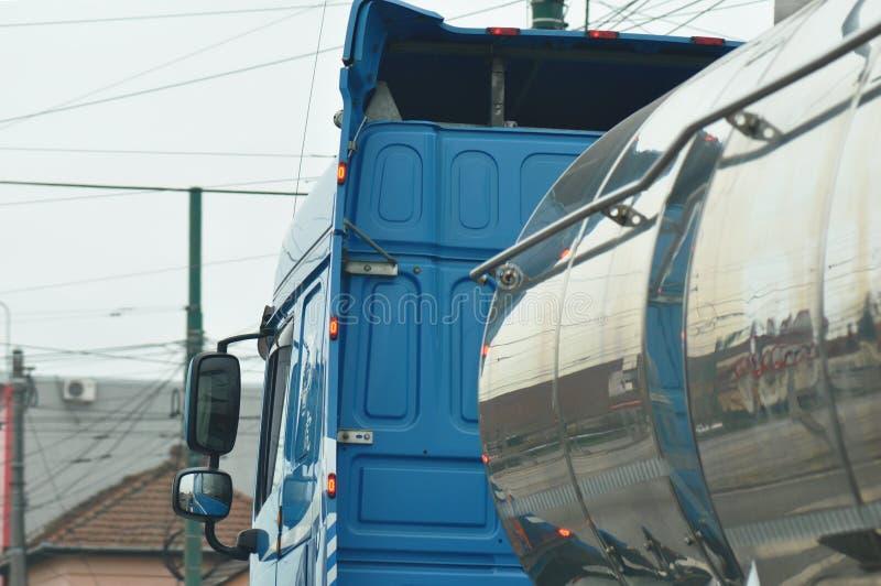 Camion cisterna del combustibile fotografia stock