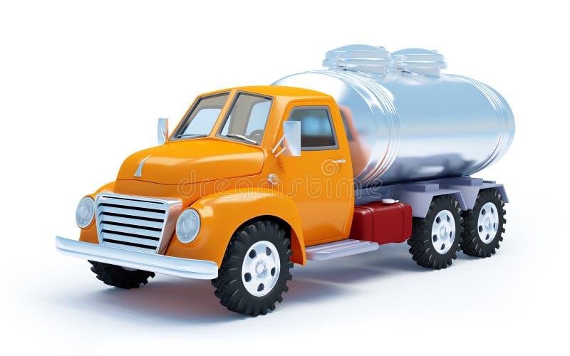 Camion cisterna del fumetto illustrazione vettoriale