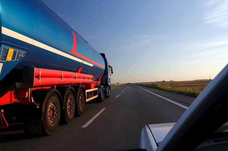 Camion-citerne aspirateur photo stock