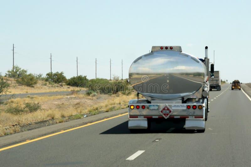 Camion-citerne aspirateur images libres de droits