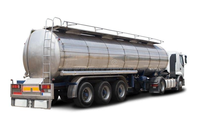 camion-citerne aspirateur d'essence image libre de droits