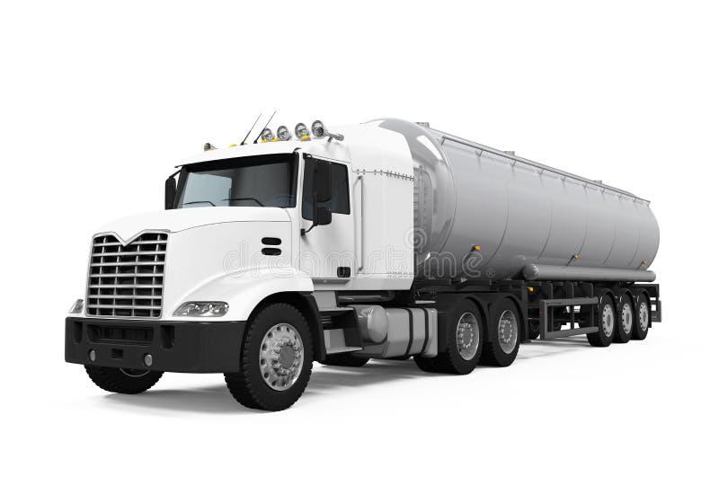 Camion-citerne aspirateur de carburant photographie stock libre de droits