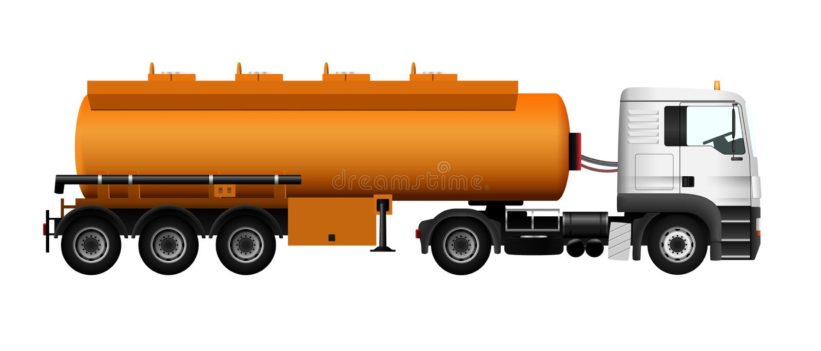Camion-citerne aspirateur de gaz combustible illustration libre de droits