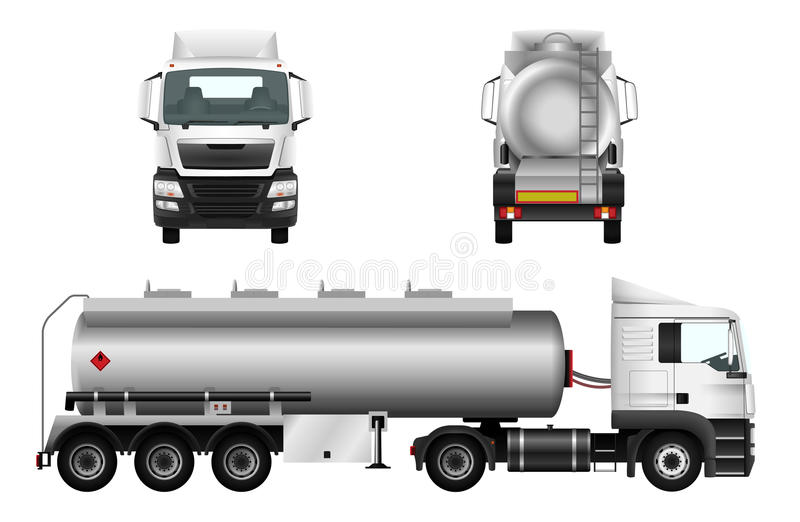 Camion-citerne aspirateur de gaz combustible illustration stock