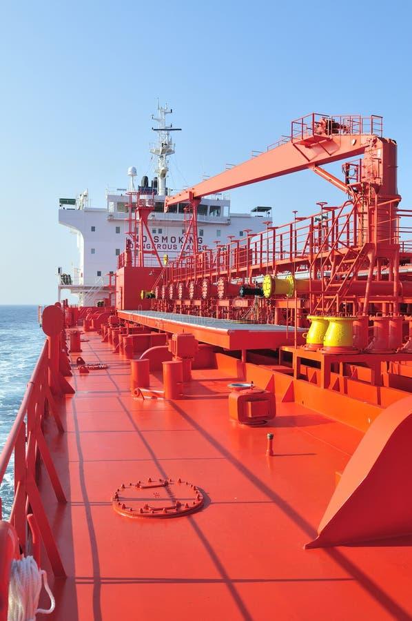 camion-citerne de bateau de pétrole brut de transporteur photos stock
