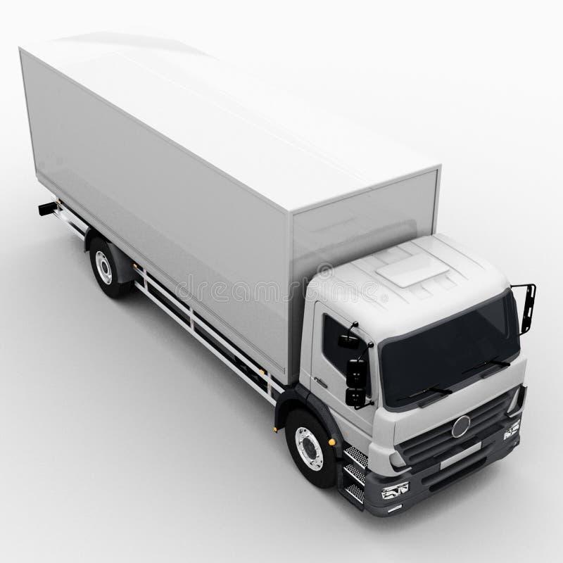 Camion commercial de la livraison/cargaison illustration stock