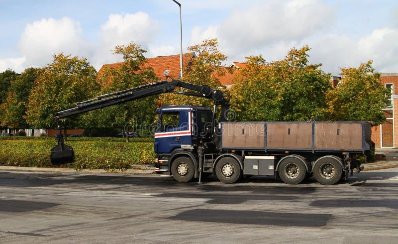 Camion con asfalto immagini stock libere da diritti
