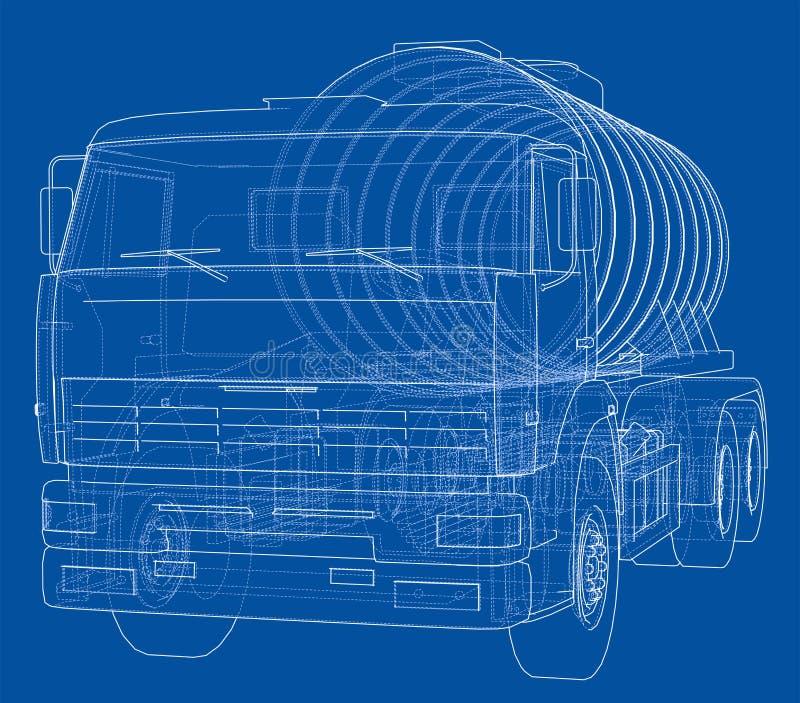 Camion con il concetto del carro armato fotografie stock libere da diritti