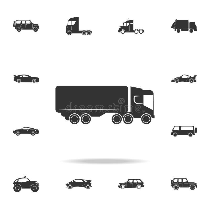 camion con un'icona del rimorchio Insieme dettagliato delle icone di trasporto Progettazione grafica di qualità premio Una delle  immagine stock libera da diritti