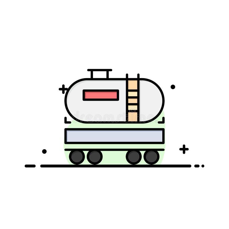 Camion, déchargeur, huile, entreprise de construction Logo Template couleur plate illustration libre de droits