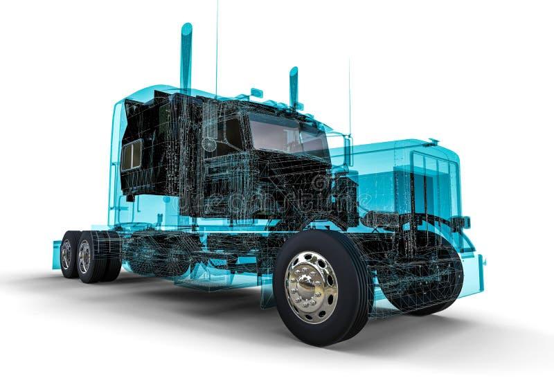 Camion d'Américain de cadre de fil illustration libre de droits