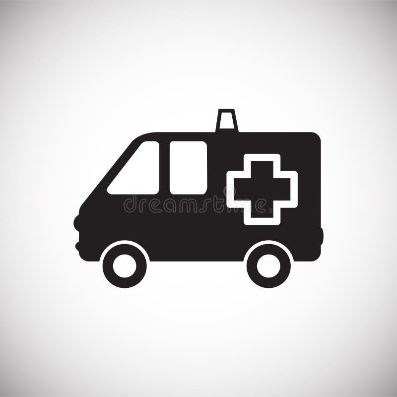 Camion d'ambulance sur le fond blanc illustration de vecteur