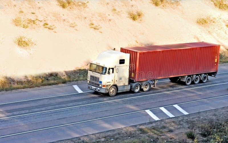 Camion d'expédition de conteneur de série de camions images libres de droits