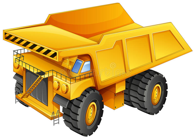 Camion d'extraction illustration stock