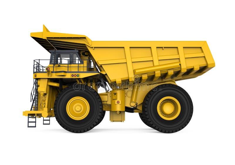 Camion d'extraction jaune illustration de vecteur