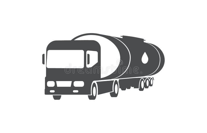 Camion d'huile, cargaison, symbole de service de distribution illustration libre de droits