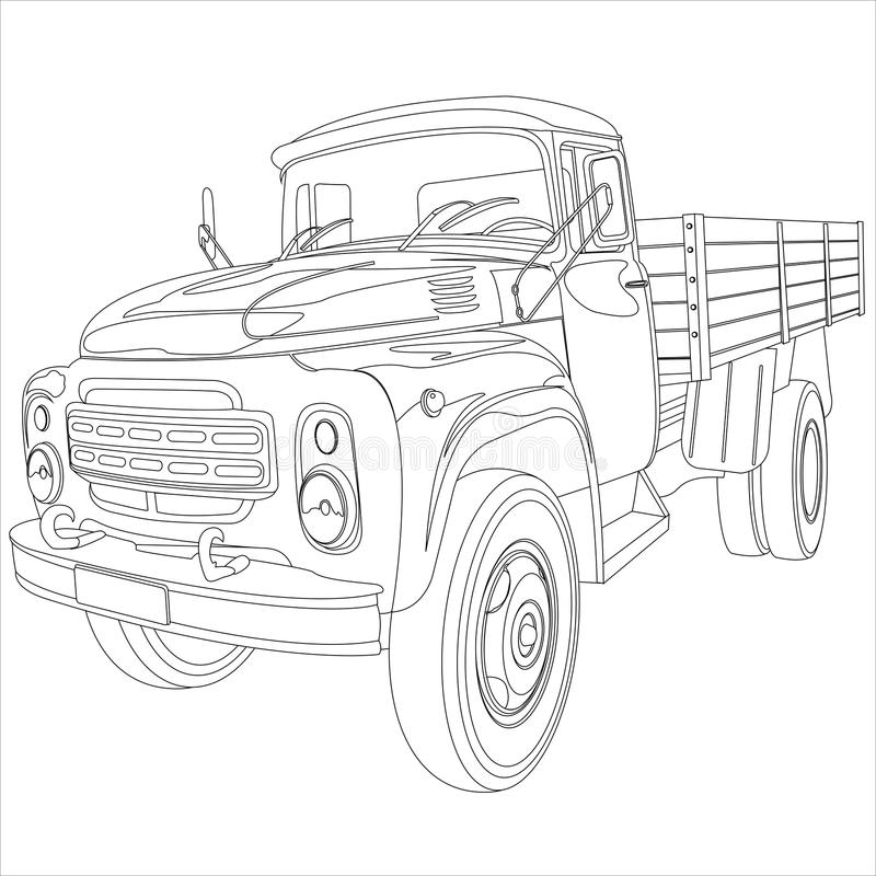 Camion de bâti plat illustration stock