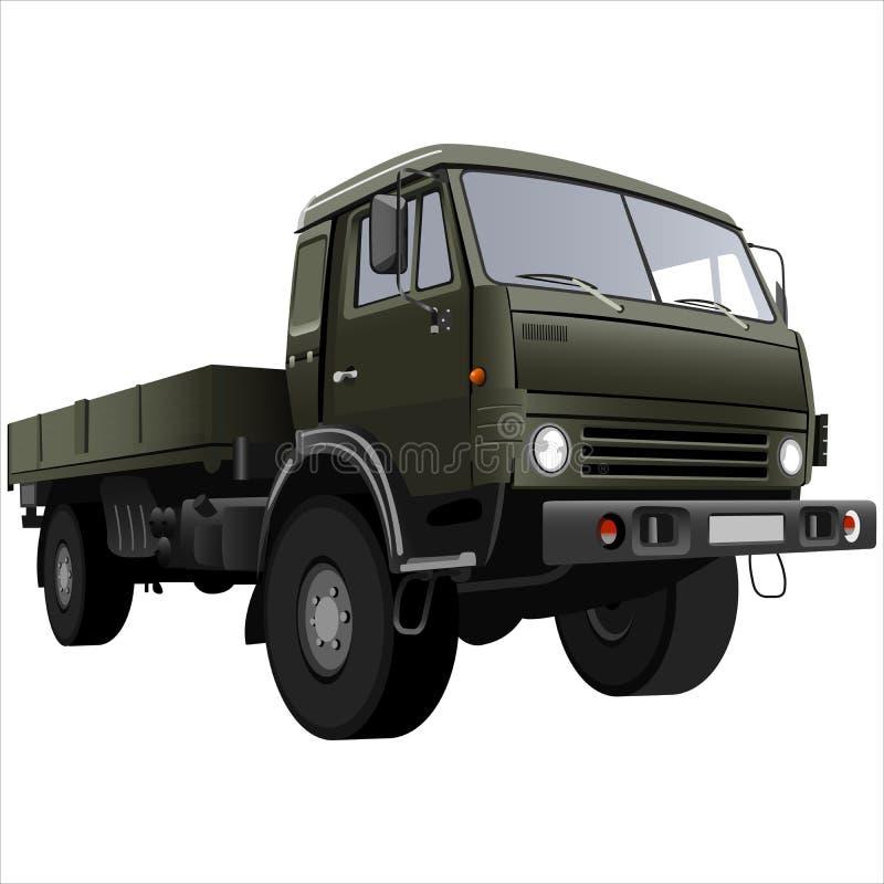 Camion de bâti plat illustration de vecteur