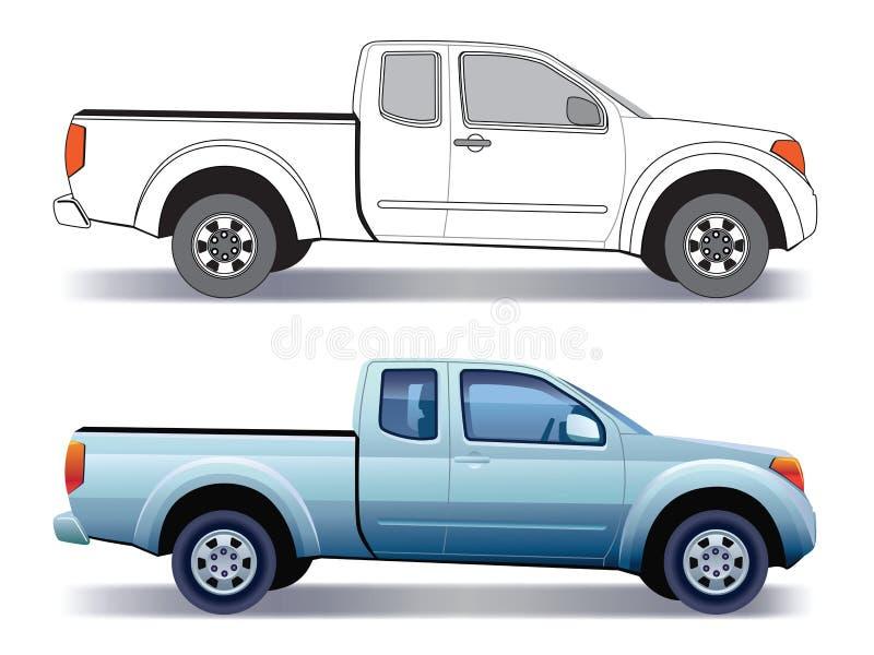 Camion de camionnette de livraison illustration stock