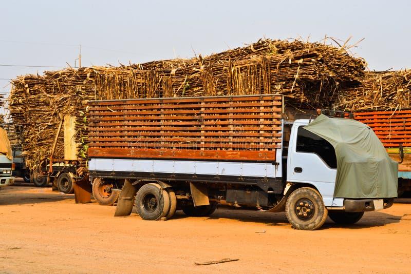 Camion de canne à sucre en Thaïlande images libres de droits