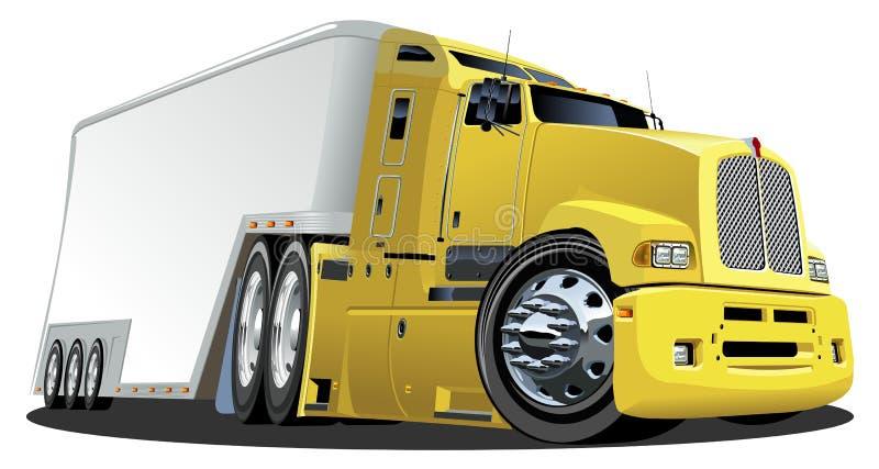 Camion de cargaison de dessin animé de vecteur illustration libre de droits