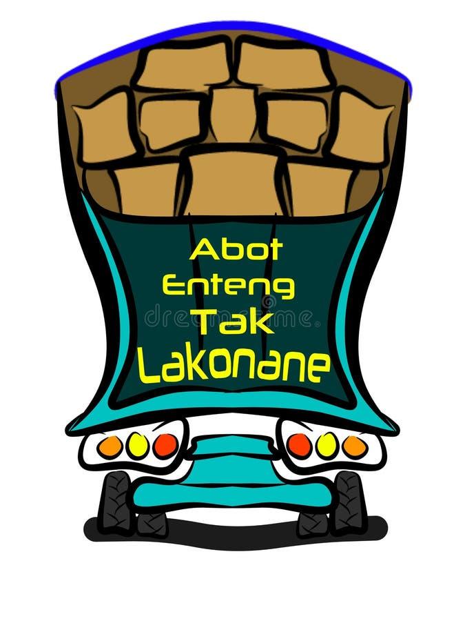 camion de caricature image stock