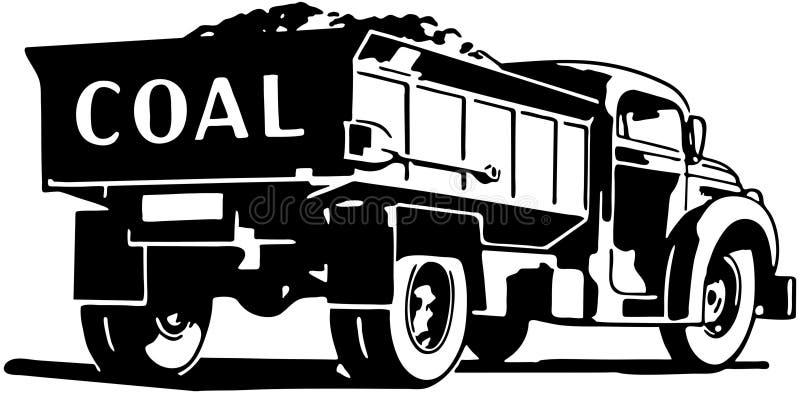 Camion de charbon illustration de vecteur