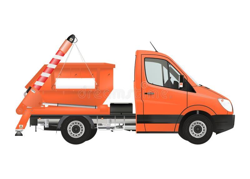 Camion de chargeur de saut illustration stock