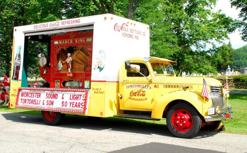 Camion de coca-cola de cru image libre de droits