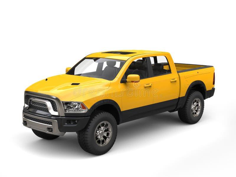 Camion de collecte moderne jaune de construction illustration libre de droits
