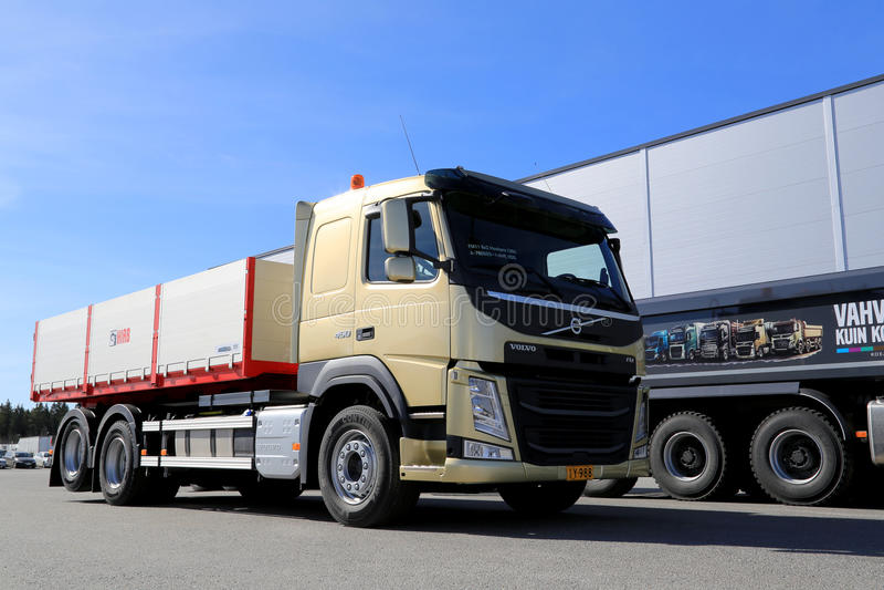 Camion de construction de Volvo FM11 Hookpro photographie stock