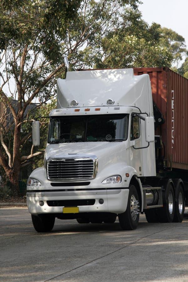 Camion de conteneur image libre de droits