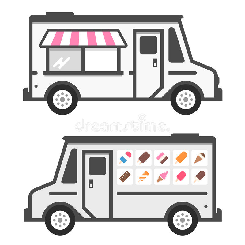 Camion de crème glacée  illustration de vecteur
