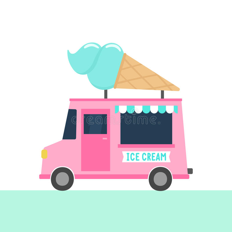Camion de crème glacée  illustration stock