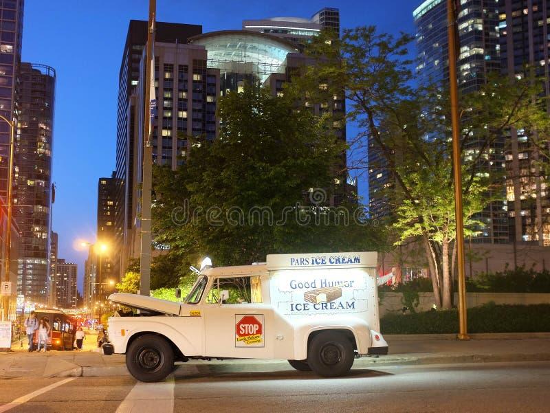 Camion de crème glacée de Chicago image stock