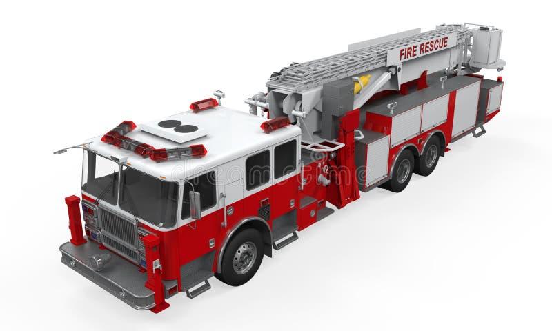 Camion de délivrance du feu illustration stock