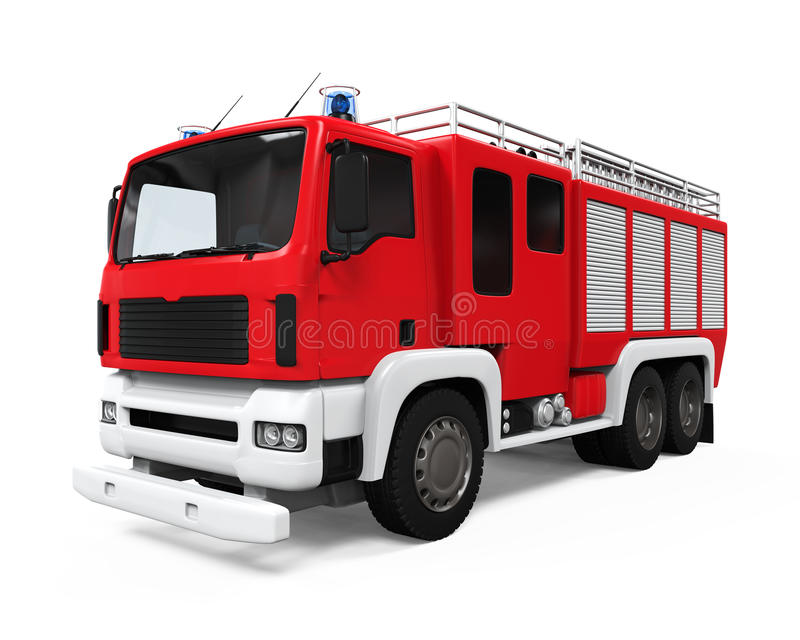 Camion de délivrance du feu illustration libre de droits