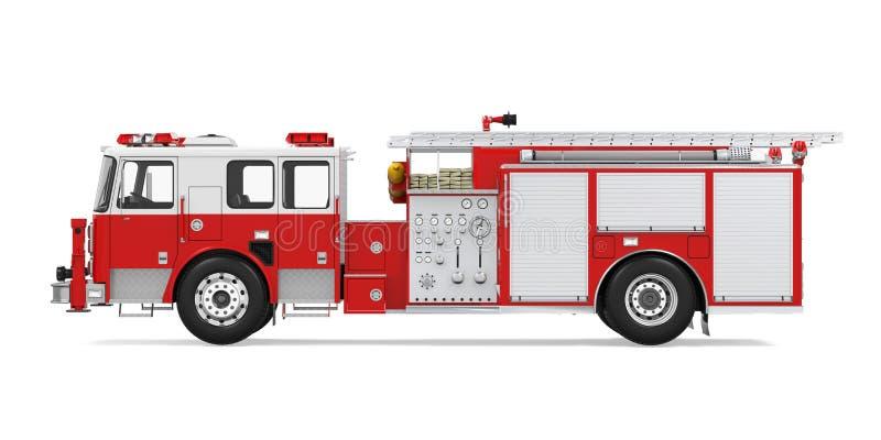 Camion de délivrance du feu d'isolement illustration de vecteur