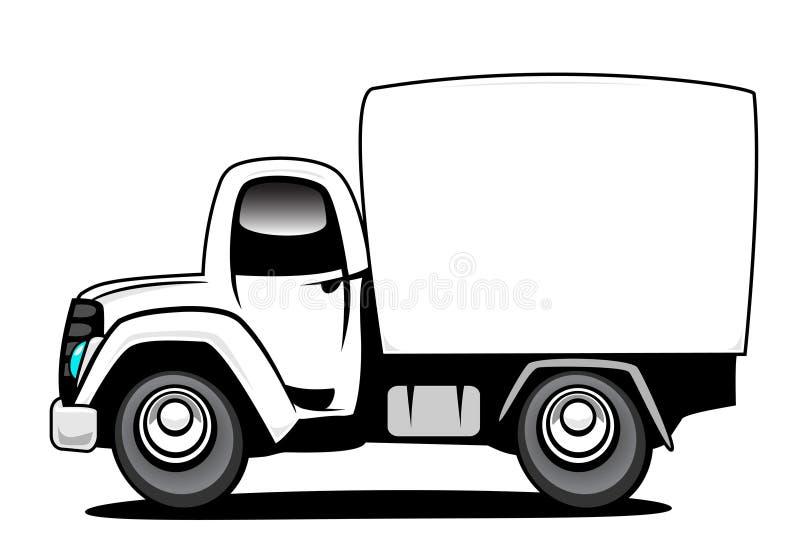 Camion de distribution illustration de vecteur