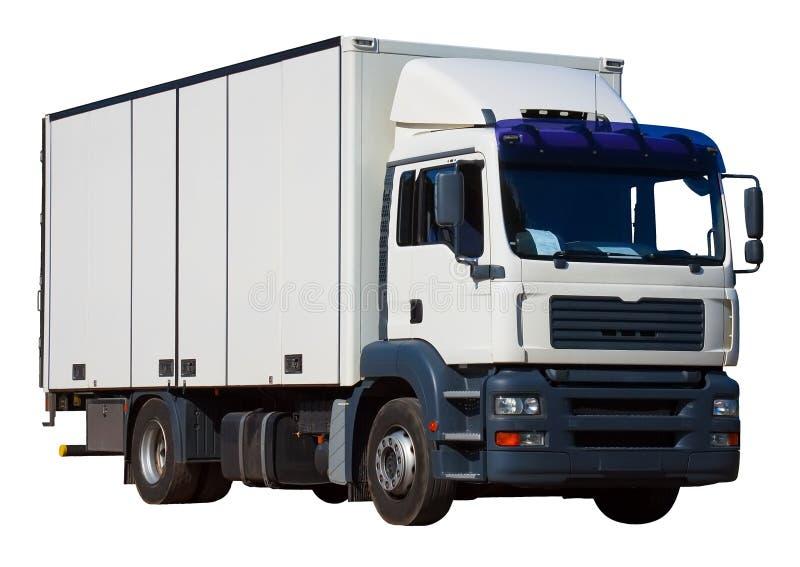 Camion de distribution blanc images libres de droits