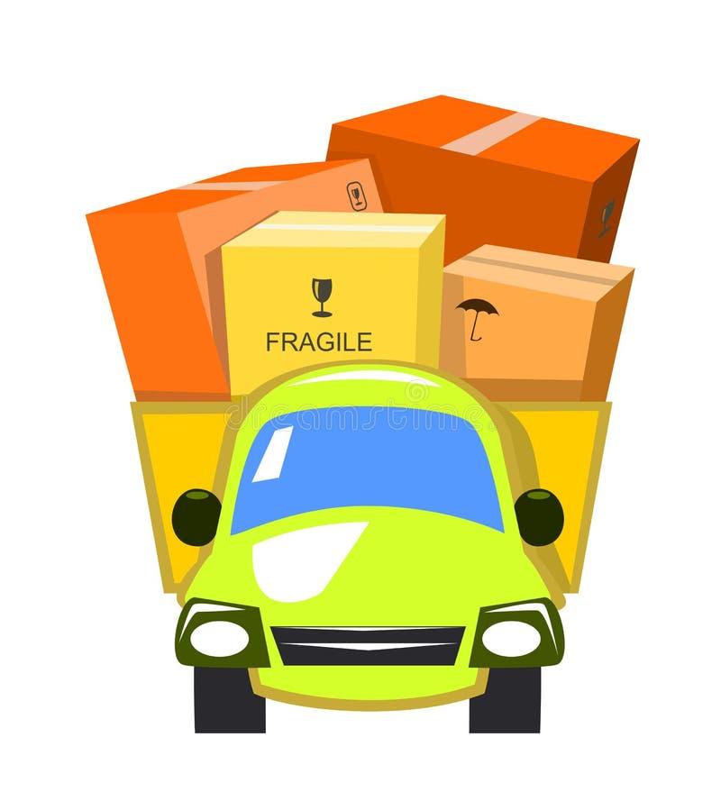 Camion de distribution de vecteur illustration de vecteur
