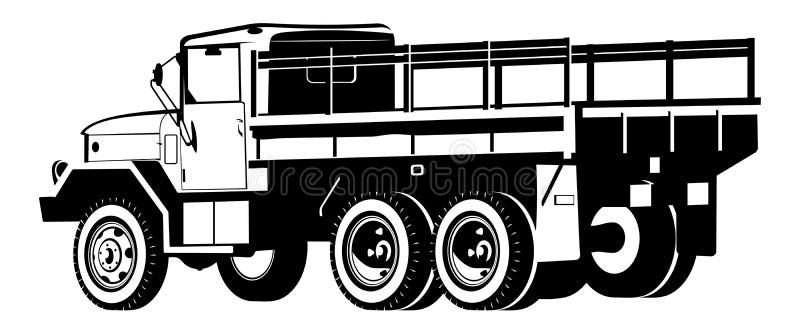camion de Dropt-côté illustration stock