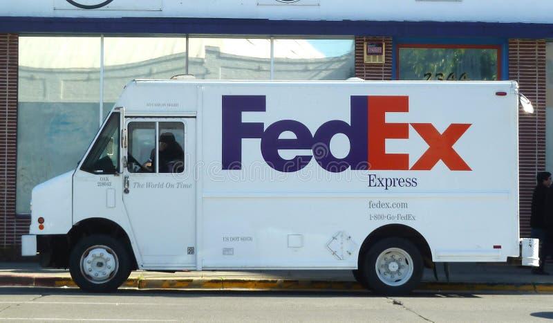 Camion de Federal Express images libres de droits