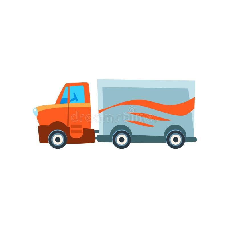 Camion de fond Toy Cute Car Icon de cargaison illustration stock