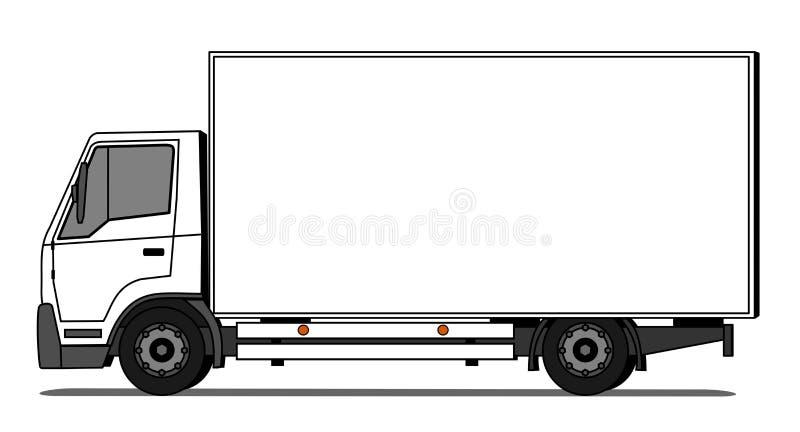 camion de livraison illustration de vecteur illustration du marque 48402399. Black Bedroom Furniture Sets. Home Design Ideas