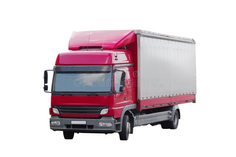 Camion de livraison d'isolement sur le blanc photos stock